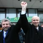 Аляксандр Мілінкевіч і Аляксандр Казулін, 2006 год. Фота tut.by