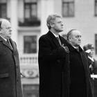 Станіслаў Шушкевіч, Біл Клінтан, Вячаслаў Кебіч у Менску. 1994 год. Фота tut.by