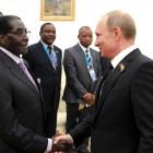 Robert Mugabe i Władimir Putin