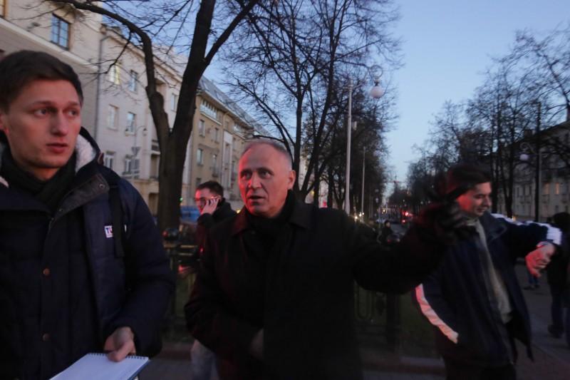 Былы палітвязень Мікалай Статкевіч быў ініцыятарам акцыі