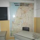 Мапа ў захопленай расейскай базе ў Сірыі.