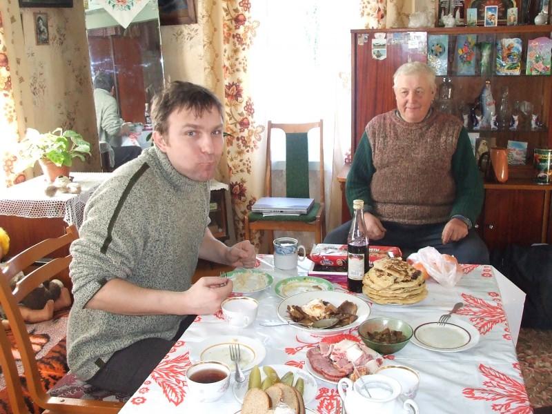 Пётр Карвэцкі і Зэнька Карвэцкі. Фота з архіву Пятра Карвэцкага