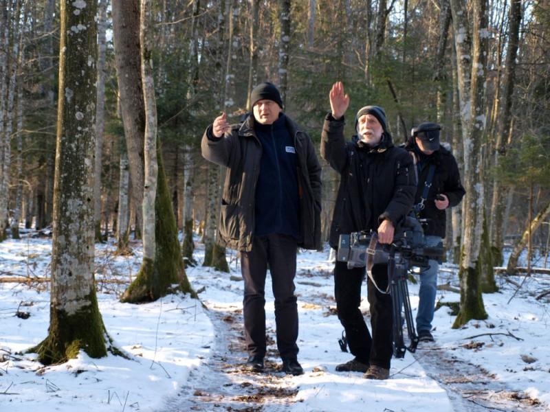 Во время съемок фильма «Сярожа». Фото belsat.eu
