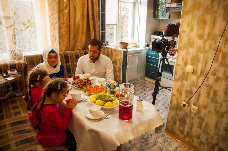 Минск. Мусульманская семья Омара Альшафи и Ольги Кулинич