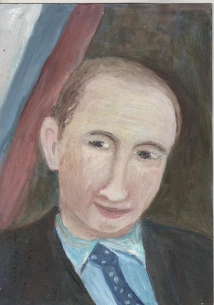 Наталля Жыжылева, «Партрэт Прэзідэнта У. У. Пуціна», 2016 (кардон, алей)