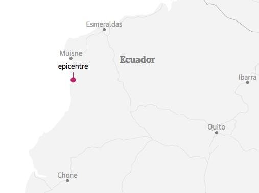 Паводле Геалагічнай службы ЗША, эпіцэнтр землятрусу быў на ўзбярэжжы, за 27 кіламетраў ад гораду Муйснэ.
