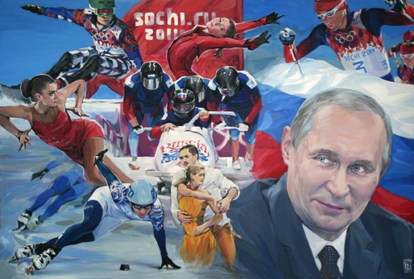 Наталля Рэзанава, «У. У. Пуцін. Лідары», 2014 (палатно, акрыл)