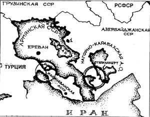 Нагорный Карабах отрезан от Армении Лачинский коридором на карте 1930 г.