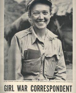 За асвятленне вайны ў Карэі Маргэрыт Хігінс першай з жанчын атрымае ў 1951 годзе Пуліцара як замежная рэпартэрка.