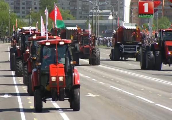Traktory przed łuką