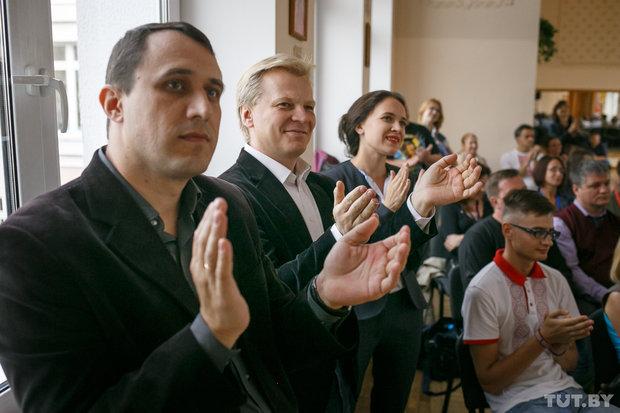 Павел Севярынец, Віталь Рымашэўскі, Марына Хоміч. Фота tut.by
