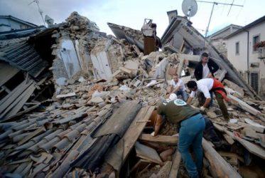 Пасля землятрусу ў Італіі. Фота AFP