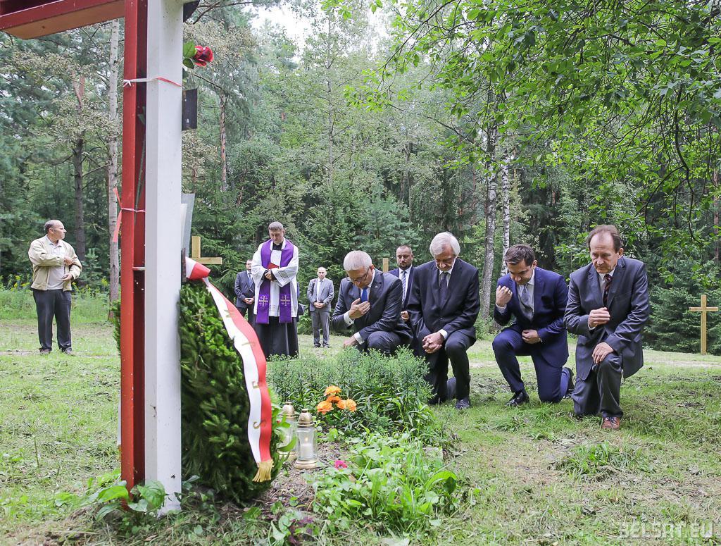 Ушанаванне памяці польскіх афіцэраў