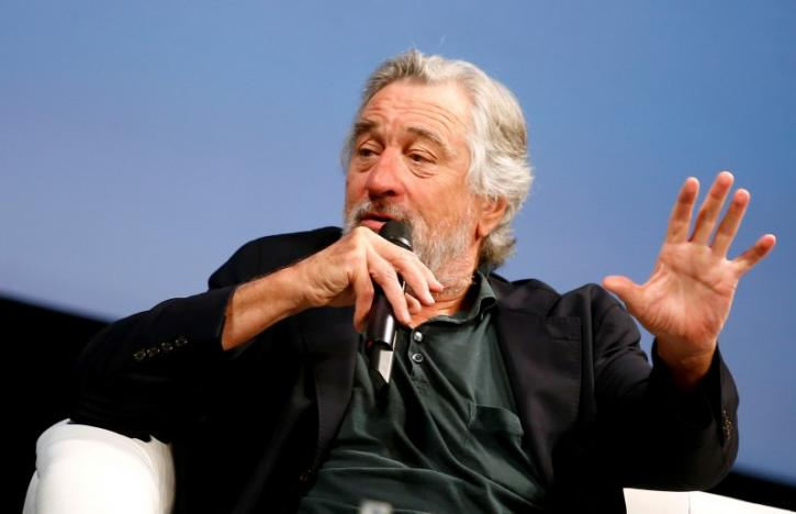 """Actor Robert De Niro talks to reporters and film professionals during """"Coffee with..."""" event during the 22nd Sarajevo Film Festival in Sarajevo"""