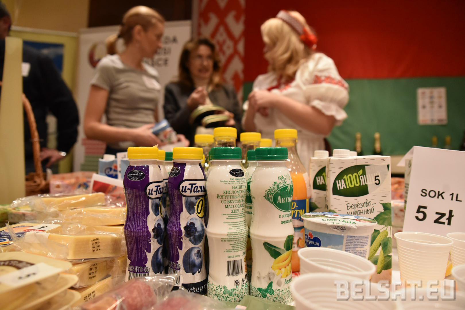 Przy białoruskim stole można było nie tylko nabyć, ale i spróbować białoruskich produktów.