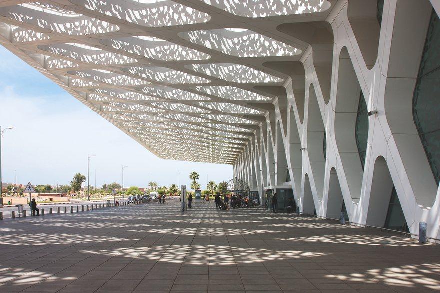Аэрапорт Маракешу – плён працы студыі «Е2А» з Касабланкі і французскай фірмы «CR». Фота: Adam Fowler