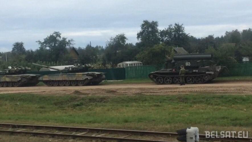 Русские военные утопили танк научениях вРеспублике Беларусь