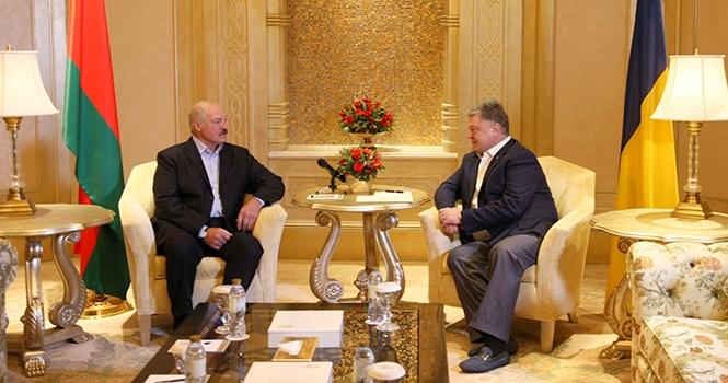 Лукашенко и Порошенко в ОАЭ