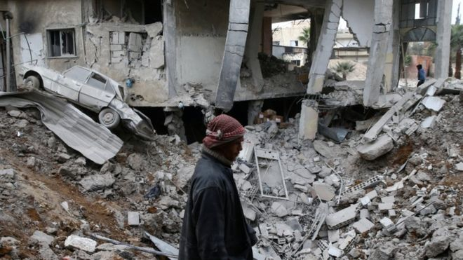 Граждане  сирийского района Восточная Гута докладывают  о новоиспеченной  химической атаке