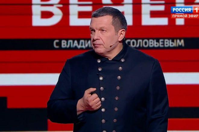 Политолог нашоу Соловьева выдал цитату изкомедии за настоящее интервью