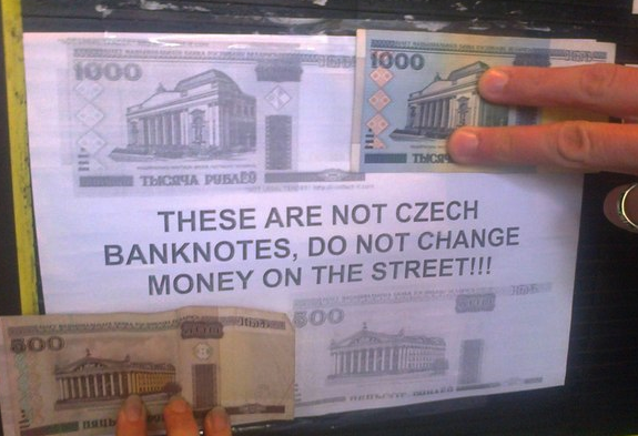 In Exchange Offices One Can Also See Warnings Against Street Currency Trading And Photos Of The So Called Belarusian Zaychiks Which Are Now Out