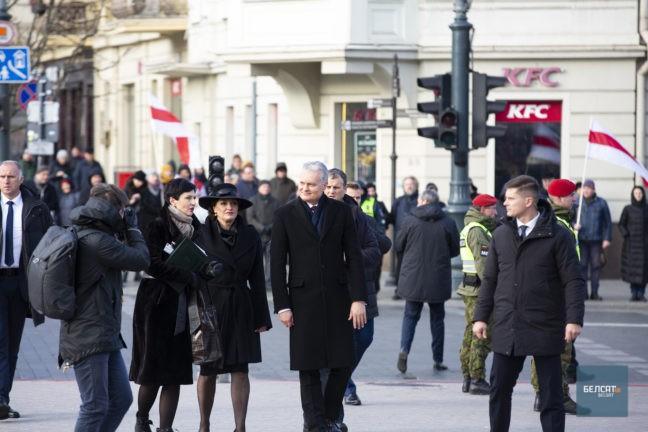 Президент Литвы Гитанас Науседа вместе с женой Дианой Науседиене. Фото Денис Дзюба belsat.eu
